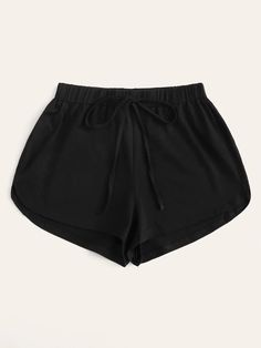 Shop Mid-Rise Drawstring Dolphin Shorts at ROMWE, discover more fashion styles online. Comfy Shorts, Casual Shorts, Fashion News, Fashion Outfits, Dolphin Shorts, Type Of Pants, Plus Size Shorts, One Piece, Drawstring Pants