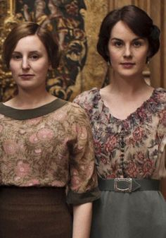 Lady Edith and Lady Mary. Downton Abbey