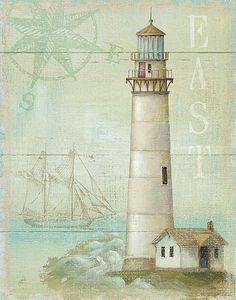 Great Art Now - East Coastal Light by Daphne Brissonnet Canvas Wall Art Vintage Diy, Shabby Vintage, Canvas Artwork, Canvas Prints, Art Prints, Big Canvas, Vintage Pictures, Vintage Images, Watercolor Card