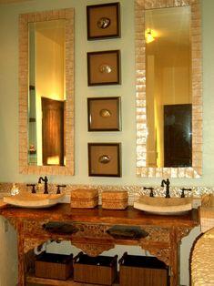 20 Upcycled and One-of-a-Kind Bathroom Vanities | DIY Bathroom Ideas - Vanities, Cabinets, Mirrors & More | DIY