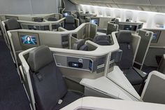 This is American's new Boeing 777-200 business class. Photo: American.