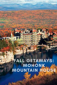Mohonk Mountain House, upstate NY - Stephen King stays here a lot and it's thought it's the original inspiration for the Shining Family Resorts, Best Resorts, Family Vacations, Mohonk Mountain House, Summer Vacation Spots, Vacation Places, Vacation Ideas, Lake George Village, Viajes