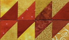 Half Square Triangle border designs - part 1 from Quilts by Jen