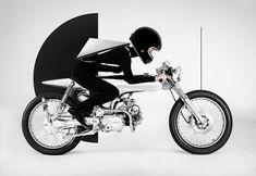EVE motorcycle captured with konstantin kofta's fashion line (Designboom) Futuristic Motorcycle, Motorcycle Art, Motorcycle Design, Fashion Line, World Of Fashion, Bobber Custom, Moto Cafe, Honda Cub, Old Bikes