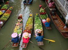 Schwimmende Märkte in Vietnam