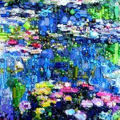 Waterlillies, after Monet by Jane Perkins