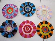 & Paper plate weaving   Simple kids crafts Sunflowers and Yarns
