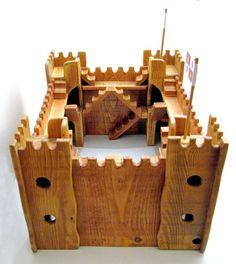 handmade wooden castle χειροποίητο ξύλινο κάστρο by woodnack