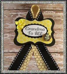 Grandma To BEE or Any Name BEE Corsage Baby by BloomingParty