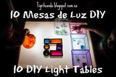 Tigriteando: 10 formas de construir mesas de luz DIY