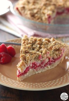 Raspberry Custard Pie from @akitchenaddict