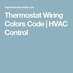 Air Conditioner Control Thermostat Wiring Diagram HVAC