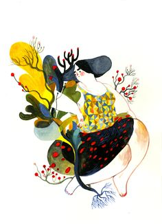 Lisk Feng, colors, creative illustration, woman, abstract