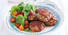 Bacon chicken rissoles