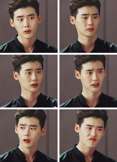 His beautiful facial expressions #w #wtwoworlds #twoworlds #leejongsuk…