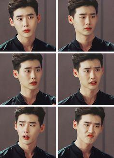 His beautiful facial expressions #w #wtwoworlds #twoworlds #leejongsuk…