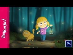 Fireflies Will Guide Her Home | Fully illustrated Time Lapse Video - Pho...