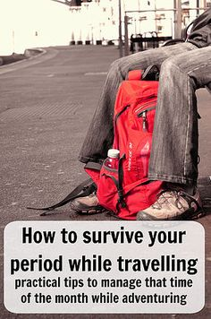 How to survive your period while travelling, practical tips to manage that time of the month while adventuring. Click to learn more or pin for latter. Ann K Addley travel blog