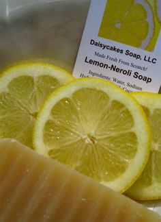 Lemon Neroli Olive Oil Soap with Lanolin by daisycakessoap on Etsy, $4.00