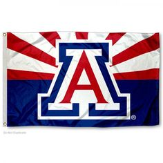 Arizona Wildcats AZ State Flag measures 3x5 feet, is made of 100% polyester, offers quadruple stitched flyends, has two metal grommets, and offers screen printed...