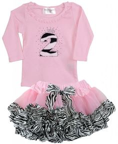 Bubblegum Divas Little Girls 2nd Birthday Pink Zebra Print Animal 2pc Outfit 4. Girls Pink Black White Wild Animal Print Rhinestone Birthday Shirt Faux Fur Teddy Bear Soft Number 5. Super Comfortable Soft Pink Long Sleeve Ruffle Neckline Cotton Shirt. Little Girls Zoo Animals Jungle Safari Themed Children's Party Shirt. Perfect for a Diva fashion show party, yearly photos, smash the cake shirt, Big Top circus theme party, amusement theme park birthday celebration. Handmade to Order by...