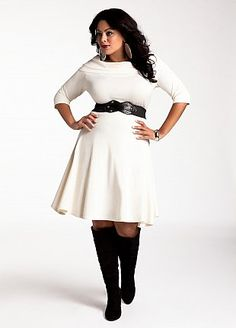 6b9662c8e6c Cowl Neck Belted Sweater Dress  couldn t order the shoes w o a dress. Plus  Size ...