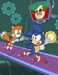 Escape from Robotropolis by SlySonic on DeviantArt Sonic Satam, Game Sonic, Sonic Underground, Mundo Dos Games, Classic Sonic, Speed Of Sound, Eggman, Bff, Sonic And Shadow