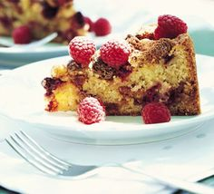 Raspberry & amaretti crunch cake recipe   One of my favourite summer bakes.