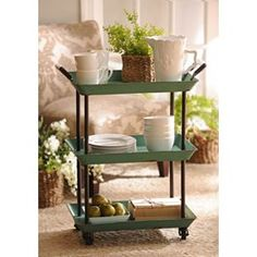 a1307fadcff00 Turquoise 3-Tier Cart
