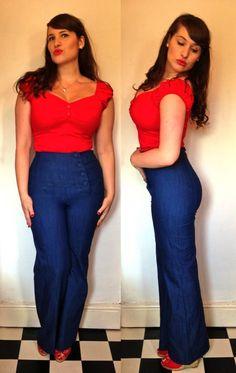 1950's women fashion jeans - Google Search