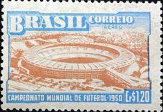 selo brasileiro Maracanã 1950