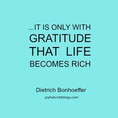 Words of Wisdom Wednesdays- thoughts on gratitude l joyfulscribblings.com