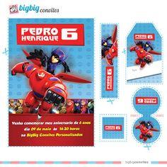 Convite Personalizado Disney Big Hero Kit Aventura