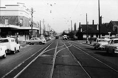 Mitchell Road. Alexandria. 1954. Ashmore Street and Erskineville Oval at right.