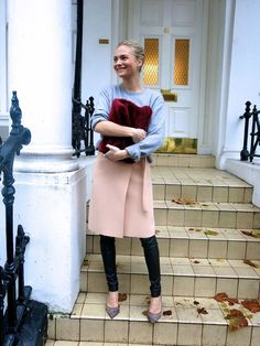 Best Outfit Ideas For Fall And Winter  A Month of Fashion Risks: Leather Pants Under a Skirt