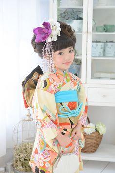 7-14 昔黄 Japanese Kids, Japanese Love, Chinese Kimono, Japanese Kimono, Sewing Kids Clothes, Sewing For Kids, Wedding Kimono, Manzanita, Japanese Outfits