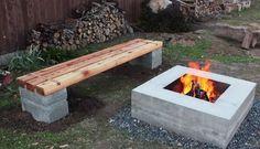 Cómo hacer un conjunto de banco y hoguera para el jardín | Hacer bricolaje es facilisimo.com