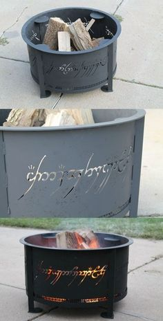 One Ring fire pit. Definitely going in my future backyard.... Which will be on a misty mountain somewhere.