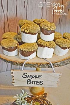 Woodland Themed Party Food Ideas – Smores Bites www.spaceshipsand… Woodland Themed Party Food Ideas – Smores Bites www. Marshmallow Dip, Chocolate Dipped Marshmallows, Giant Marshmallows, Melted Chocolate, Chocolate Bowls, Homemade Marshmallows, Köstliche Desserts, Delicious Desserts, Dessert Recipes