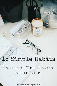 Simple habits that can transform your life help you become more successful, happy and abundant. these habits are simple and will lead you to reach goals that you are aiming for and motivate you to become the person you want to be. Self Development, Personal Development, Simple Living Blog, Reaching Goals, Good Habits, Healthy Habits, Healthy Mind, 7 Habits, Transform Your Life