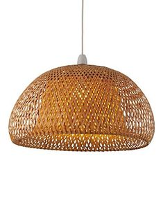 Bamboo Lattice Shade Ceiling Lamp Shade | M&S