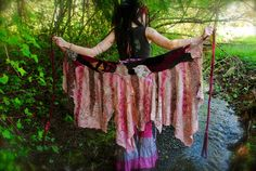 RESERVED Scrap Wrap Gypsy Skirt Pixie by IntergalacticApparel