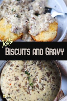 Keto Biscuits and Gravy super yummy! Made with onion and chive cream cheese! … Keto Biscuits and Gravy super yummy! Made with onion and chive cream cheese! Sausage Gravy And Biscuits, Keto Biscuits, Cheese Biscuits, Ketogenic Recipes, Low Carb Recipes, Diet Recipes, Ketogenic Diet, Slimfast Recipes, Pescatarian Recipes