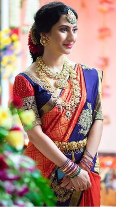 Jewerly Making Ideas Crystal 37 New Ideas Pattu Saree Blouse Designs, Bridal Blouse Designs, Party Looks, Beautiful Saree, Beautiful Bride, Hyderabad, Indian Bridal Sarees, Men's Jewelry, Jewelry Stand