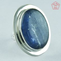 KYANITE STONE, 925 STERLING SILVER RING, NEW CLASSY RING, ROYAL RING, R4957 #SilvexImagesIndiaPvtLtd #Statement #AllOccasion