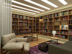 Home Library Design, Home Room Design, Home Interior Design, Interior Decorating, House Design, Futuristic Bedroom, Home Libraries, Luxury Decor, Home Studio