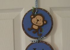 It's A Boy Banner  It's a Boy Monkey Hospital Door Banner by KatlinLee123