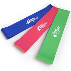 Set of 3 Resistance Loop Bands For Exercise (Light, Medium, Heavy) - High Quality Latex, Lifetime Guarantee >>> MORE INFO @ http://www.fitnessprokingdom.com/fitness/100259/ptb