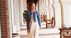 Stylish Ways to Wear Denim - Jean Jacket.  Love this with no collar and cropped length!