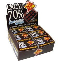 70% cacau sem adição de açúcar display 24x14g